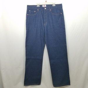 Levi's 501 Straight Leg Button Fly Dark Jeans